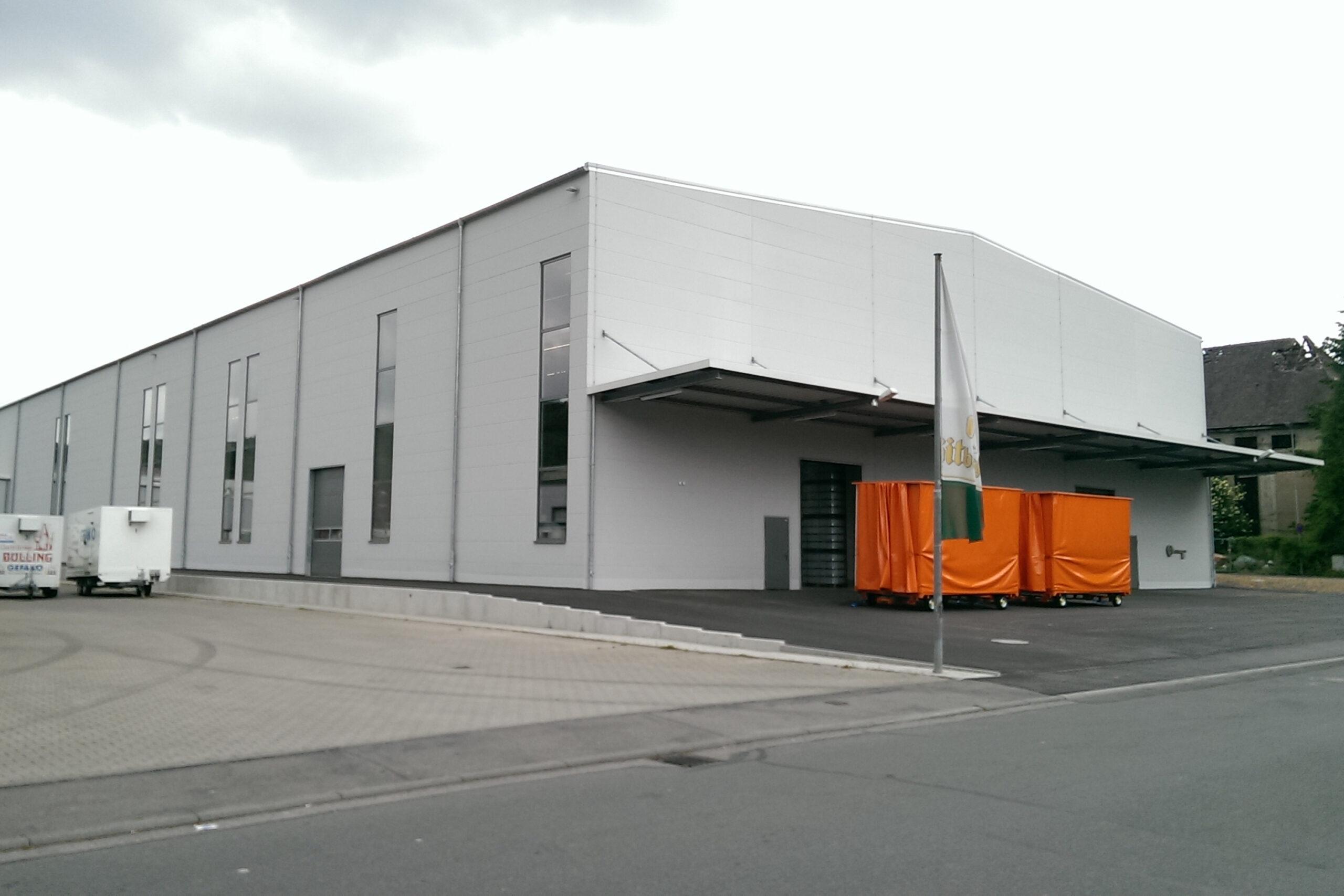 Neubau eines Rohwarenlagers