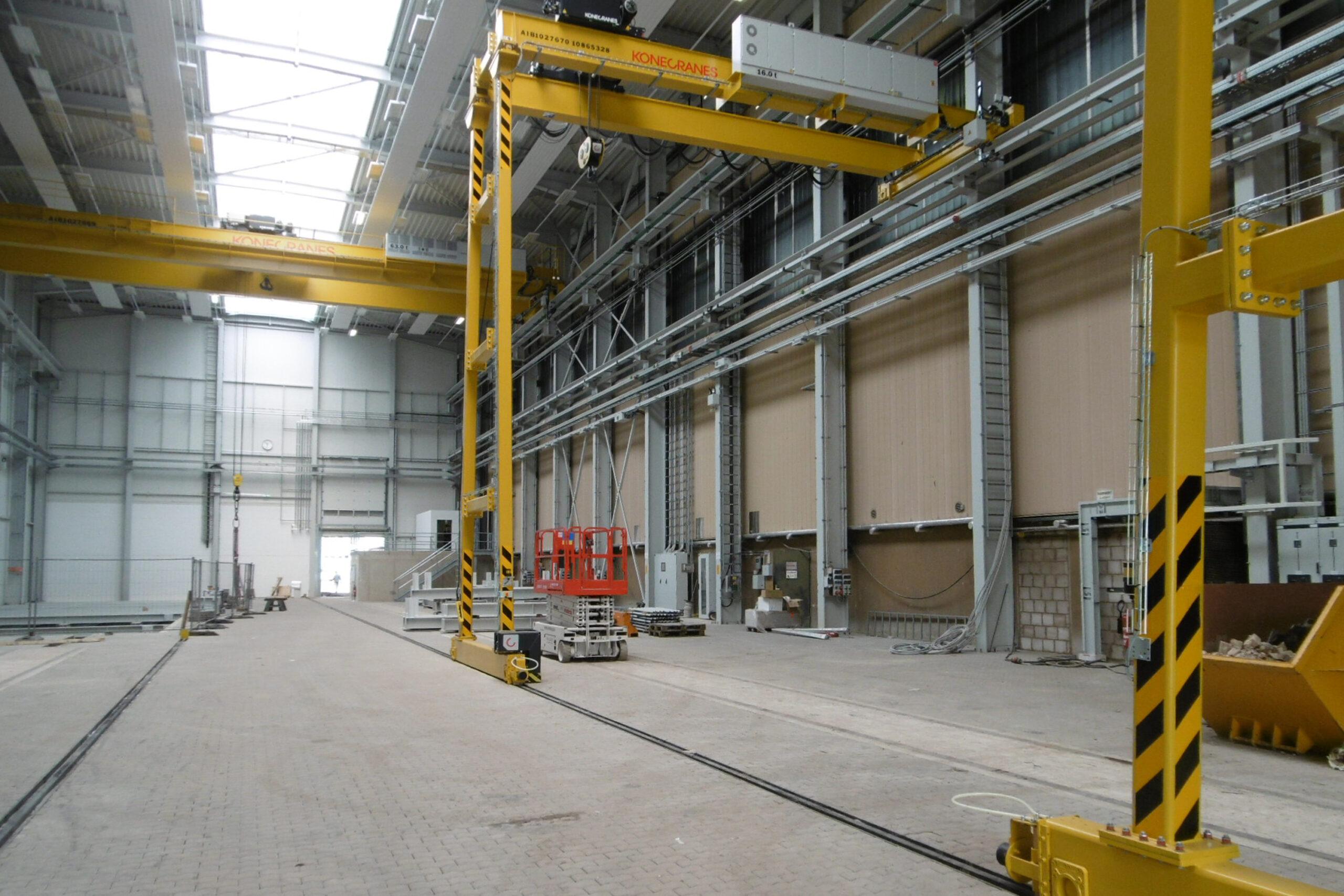 Neubau einer Maschinenhalle mit Ausbildungswerkstatt